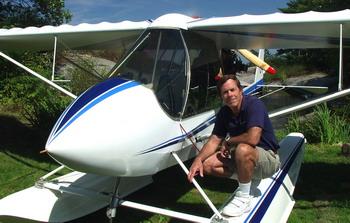 Ian Coristine & his plane